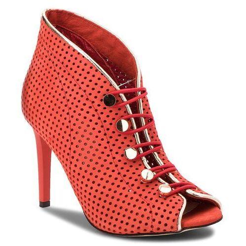 Szpilki CARINII - B3928/M H55-J16-000-B16, kolor czerwony
