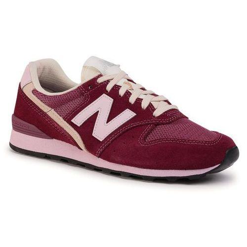 Sneakersy NEW BALANCE - WL996SVB Bordowy, kolor czerwony