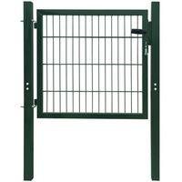 Vidaxl  brama ogrodzeniowa stalowa zielona, 106 x 150 cm