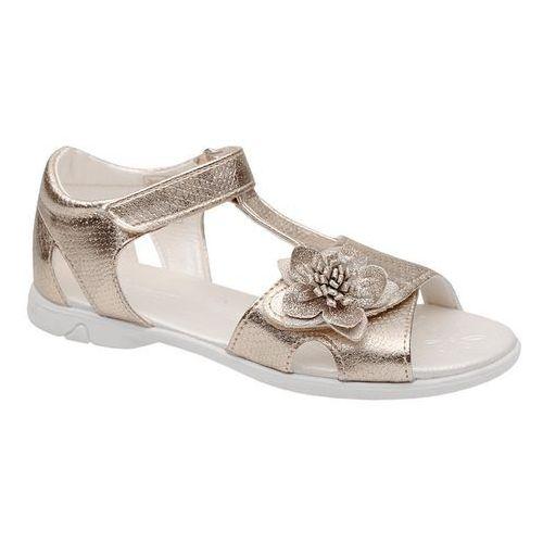 Sandałki dla dziewczynki KORNECKI 4323 Złote Brokat - Złoty, kolor żółty