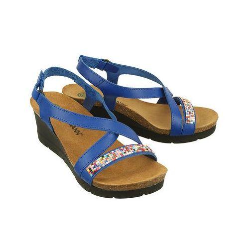 da89513019866 ... DR BRINKMANN 710806-5 blau, sandały profilaktyczne damskie - Granatowy,  kolor niebieski ...