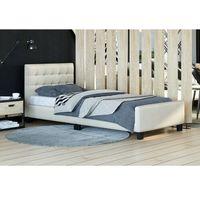 Łóżko tapicerowane 90x200 SF942 Welur Beż