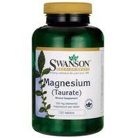 Tabletki SWANSON Magnesium Taurate (Taurynian Magnezu) 100mg - 120 tabletek