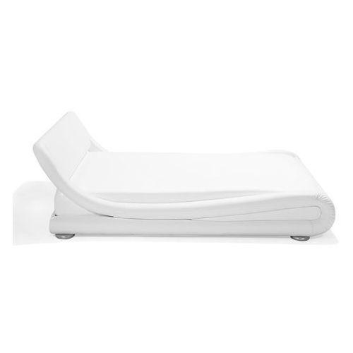 Łóżko wodne śnieżnobiałe skóra ekologiczna 180 x 200 cm AVIGNON (4260602376927)