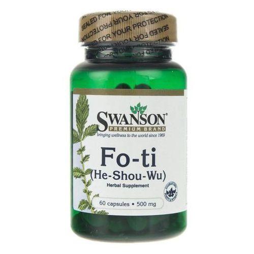 Kapsułki Swanson Fo-Ti (He-Shou-Wu) (Rdest wielokwiatowy) 500 mg - 60 kapsułek