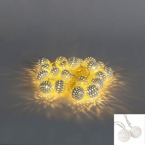Oswietlenie swiateczne lancuch swietlny Bal 20 LED barwa cieplo biala 4 m