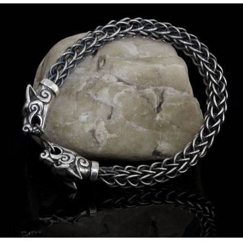 Płatnerze Bransoleta wikingów fenrir srebro fgj172