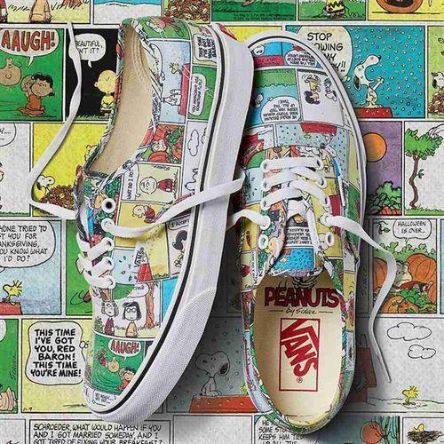 Buty - authentic (peanuts) comics/black/true white (qq2) rozmiar: 46, Vans