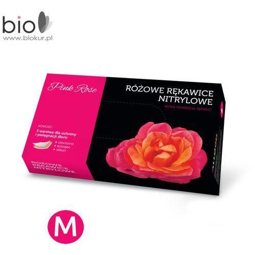 Rękawice nitrylowe pink rose z alantoiną i kolagenem rozmiar m - 100 szt Doman