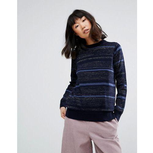 M.i.h Jeans Falls Stripe Merino Wool Knit Jumper - Navy, kolor szary