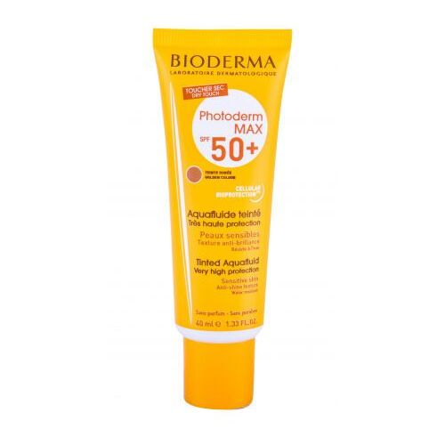 Bioderma photoderm max tinted aquafluid spf50+ preparat do opalania twarzy 40 ml dla kobiet golden colour - Ekstra oferta