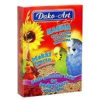 Dako-art makki fructo - pełnowartościowy pokarm z owocami dla papużek falistych 500g (5906554351313)