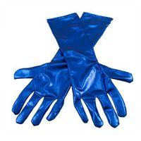 Rękawiczki karnawałowe niebieskie - cm.