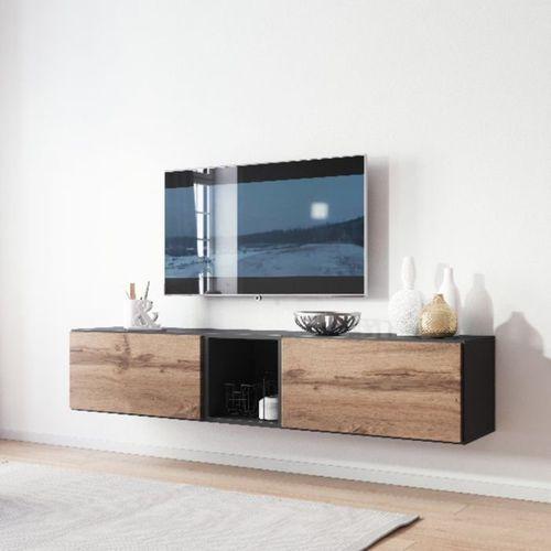 Nowoczesna Szafka Rtv Rock 10 Antracyt Mat Wotan Mat High Glossy Furniture