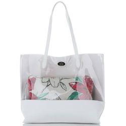 48ce52ff7b799 David Jones. David jones Modne transparentne torebki damskie z kosmetyczką marki  multikolorowe ...