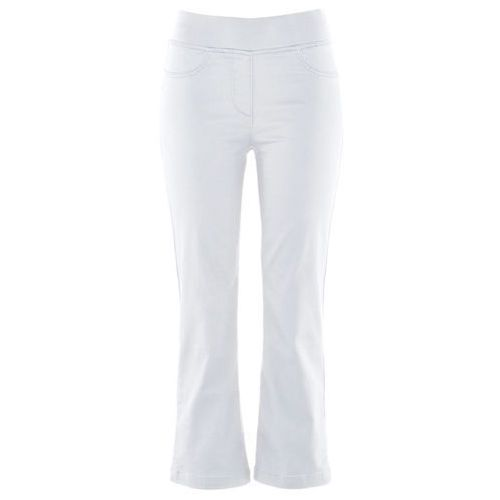 """Spodnie wsuwane 7/8 """"Superstretch"""" bonprix biały, kolor biały"""