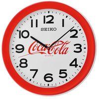 Zegar SEIKO QXA922R średnica 37 cm, kolor czerwony