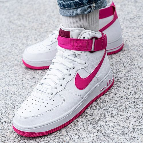 Nike Air Force 1 High Wmns (334031-110), kolor biały