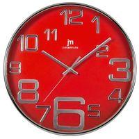 Lowell designowy zegar ścienny 00820r czerwony (2007826250013)