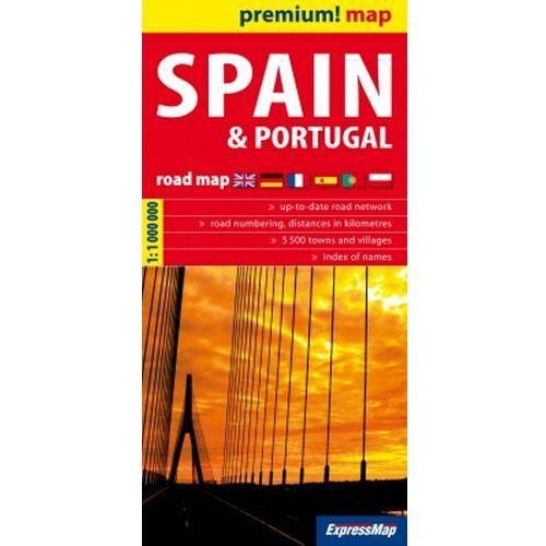 Spain and Portugal road map 1:1 000 000 - DODATKOWO 10% RABATU i WYSYŁKA 24H!, ExpressMap