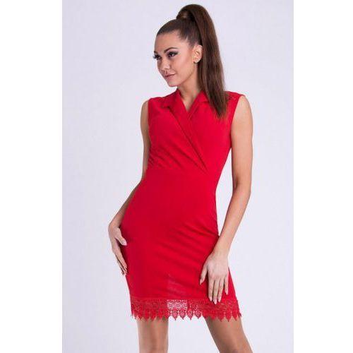 Sukienka - czerwony 26005-3 Emamoda