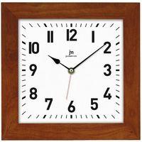 Lowell zegar ścienny 21035C ciemnobrązowy