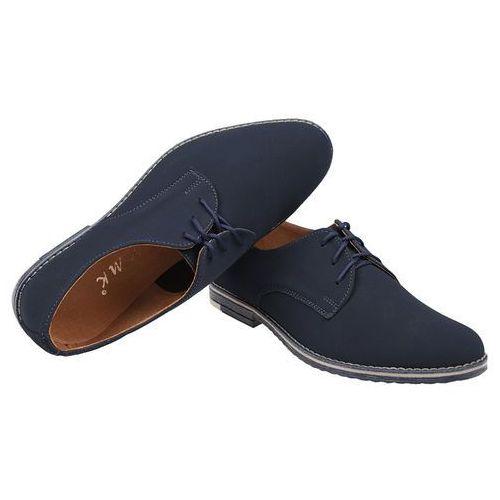 047d4bf2d5cbf Półbuty buty komunijne wizytowe 199 granatowe n eleganckie - granatowy  ||niebieski marki Kmk -