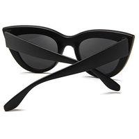 Okulary damskie przeciwsłoneczne kocie oko czarne