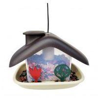 Karmnik dla ptaków domek brązowy