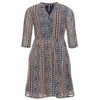 Sukienka szmizjerka: MUST HAVE bonprix ciemnoniebiesko-brązowy w kwiaty