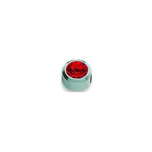 Studex Kolczyk rubin w oprawie pełnej kolor srebrny+ r207w