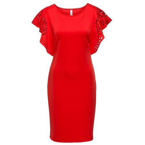 Sukienka z wycięciami bonprix czerwony, w 8 rozmiarach