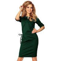Zielona sukienka z niską stójką