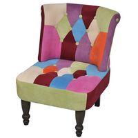 patchworkowy fotel w stylu francuskim, z oparciem marki Vidaxl