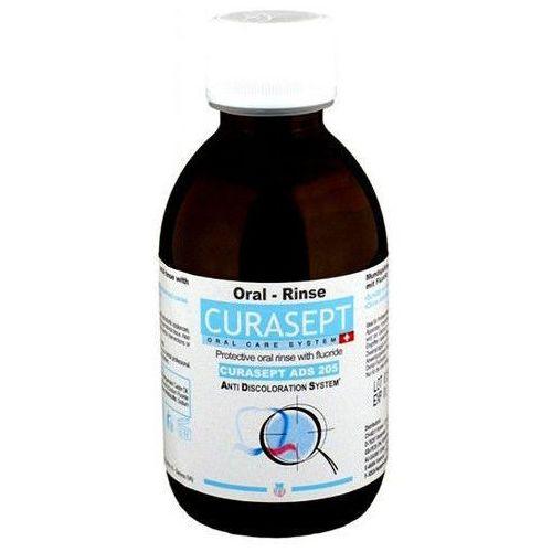 CURASEPT ADS 205 - Płyn do płukania jamy ustnej z chlorheksydyną 0.05% i fluorem 200ml, 0000000073