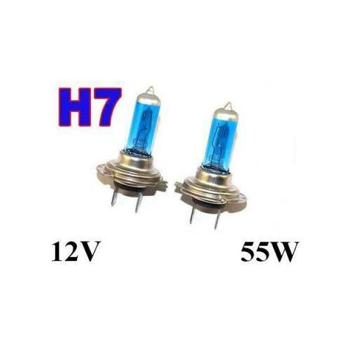 Żarówki (2szt.) Samochodowe H7 (12V) Xenon H.I.D. Super White (moc 55W) - Homologowane.