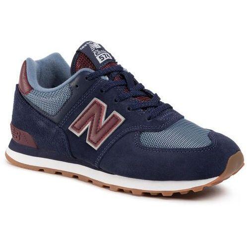 Sneakersy NEW BALANCE - GC574SPO Granatowy, kolor niebieski