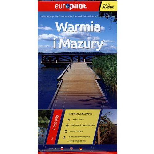 Warmia i Mazury. Foliowana mapa turystyczna w skali 1:250 000, praca zbiorowa