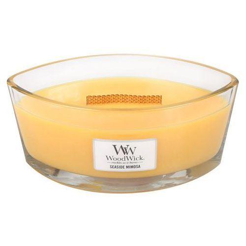 świeca hearthwick flame - seaside mimosa, 19,5x9cm Dekoria
