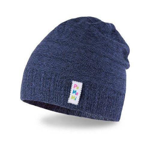 Wiosenna czapka dziewczęca PaMaMi - Ciemnoniebieski - Ciemnoniebieski (5902934023603)
