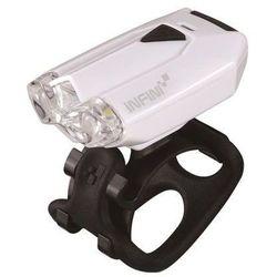 lava 260 w (usb) - lampa przednia, biała - biały marki Infini