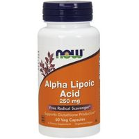 Now Foods Alpha Lipoic Acid ALA Kwas Alfa Liponowy 250mg 60 kaps.