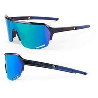 Okulary Accent Hero space blue, soczewki niebieskie lustrzane, różowe rozjaśniające