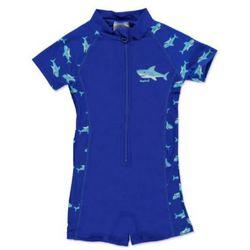 PLAYSHOES Boys Jednoczęściowy strój kąpielowy Rekin kolor marine