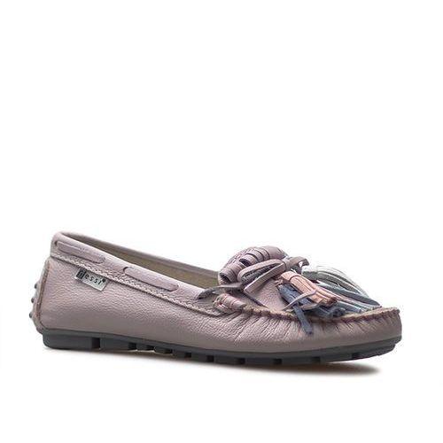 Mokasyny 19514 fioletowe lico marki Nessi