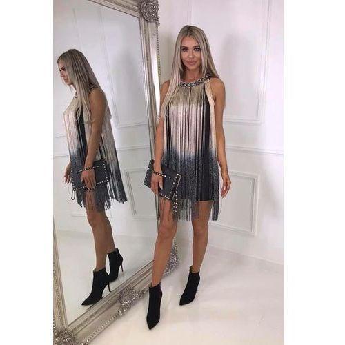 260dc50a987f96 Sukienka we wzór cekinowy (Vito Vergelis) - sklep SkladBlawatny.pl