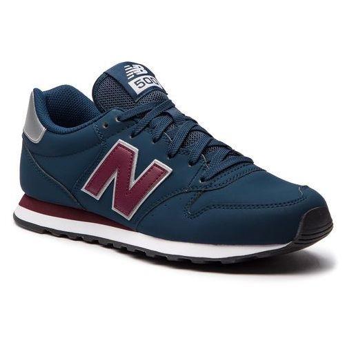 Sneakersy - gm500nab granatowy marki New balance