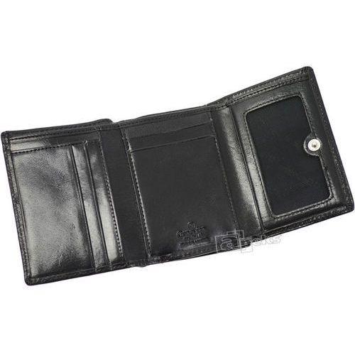 248681f6be16b luxury objects 03-2306-01 portfel skórzany damski - czarny marki Genevian -  zdjęcie