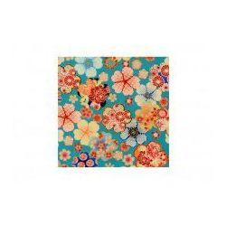 - Furoshiki niebieskie kwiaty s