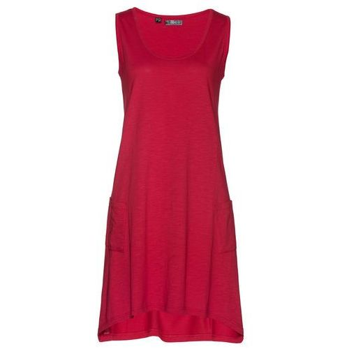 Sukienka z przędzy mieszankowej ciemnoczerwony Bonprix